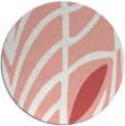 rug #539941 | round white abstract rug