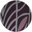 rug #539957 | round purple abstract rug
