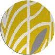 rug #540021 | round yellow natural rug