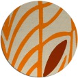 rug #540037 | round orange abstract rug