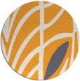 rug #540069 | round light-orange graphic rug