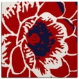rug #540665 | square red graphic rug