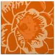 rug #540685 | square red-orange graphic rug