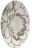 rug #540777 | oval beige graphic rug