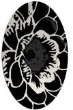 rug #540781 | oval black natural rug