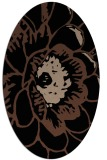 rug #540793 | oval brown graphic rug