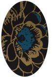rug #540797 | oval brown rug