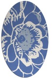 rug #540817 | oval blue graphic rug