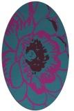 rug #540841 | oval pink natural rug