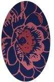 rug #540869 | oval blue-violet graphic rug