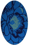 rug #540945 | oval blue graphic rug