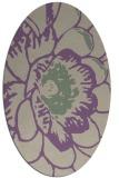 rug #540957   oval purple natural rug