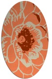rug #540973 | oval orange graphic rug