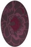 rug #541001 | oval purple graphic rug