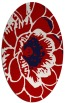 rug #541017 | oval red graphic rug