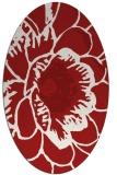 rug #541025 | oval red rug