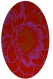 rug #541029 | oval red graphic rug