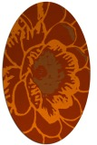 rug #541033 | oval red-orange rug