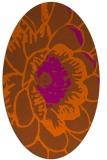 rug #541041 | oval red-orange graphic rug