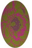 rug #541105 | oval pink natural rug