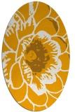 rug #541113 | oval light-orange graphic rug