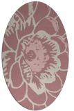 rug #541117 | oval pink graphic rug