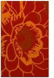 rug #541373 |  orange graphic rug