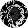 rug #541485 | round black graphic rug
