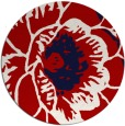 rug #541721   round red graphic rug