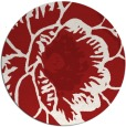 rug #541729 | round red rug