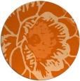 rug #541741 | round red-orange graphic rug