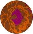 rug #541745 | round red-orange graphic rug