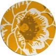rug #541817 | round light-orange natural rug