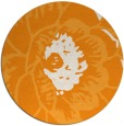 rug #541825 | round light-orange natural rug
