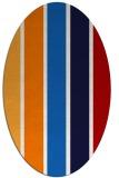 rug #544537   oval red gradient rug