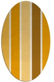 rug #544633 | oval light-orange stripes rug