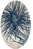 rug #546081 | oval white abstract rug