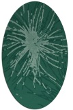 rug #546113 | oval blue-green abstract rug