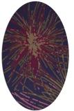 rug #546165 | oval beige abstract rug