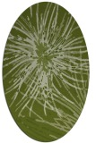 rug #546181 | oval green abstract rug