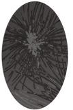 rug #546205   oval mid-brown natural rug