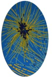 rug #546225   oval blue abstract rug