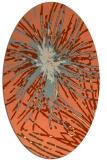 rug #546253   oval orange popular rug