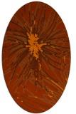 rug #546313 | oval red-orange rug