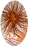rug #546325 | oval red-orange abstract rug