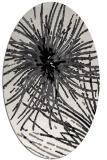 rug #546329 | oval white abstract rug