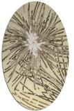 rug #546349   oval yellow abstract rug