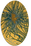 rug #546361 | oval light-orange abstract rug