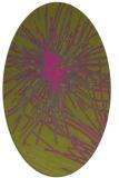 rug #546385 | oval light-green popular rug