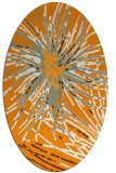 rug #546401 | oval light-orange natural rug